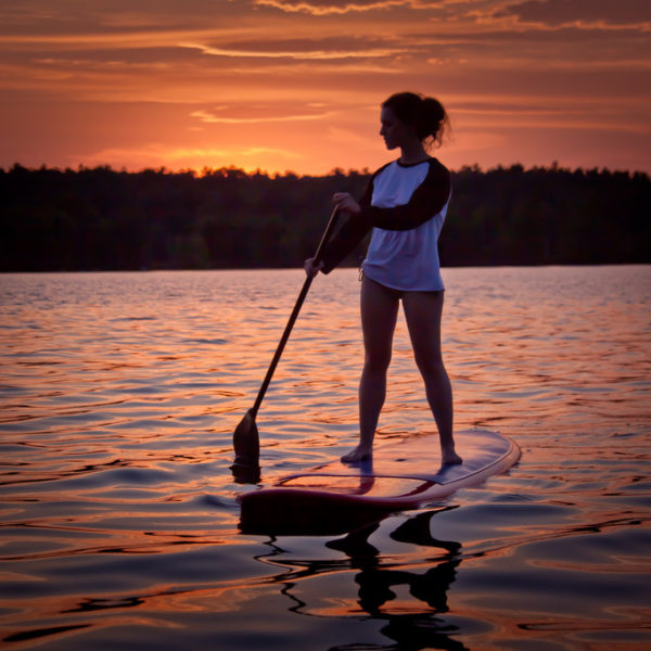 Standup paddleboarding in Newport