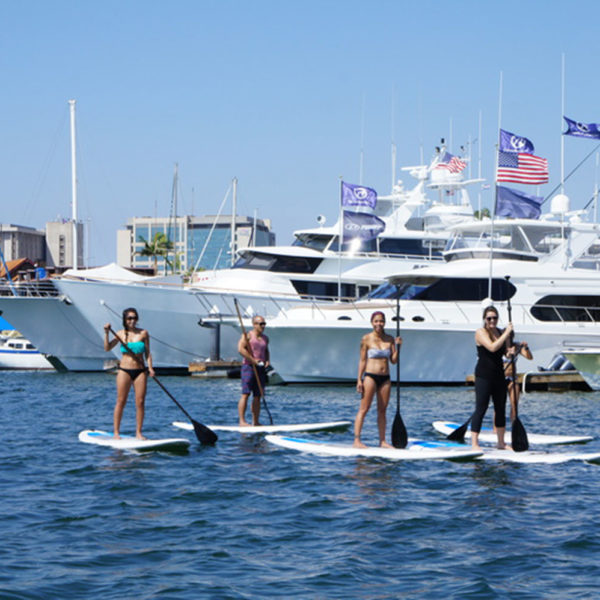 Standup paddle board in Newport