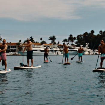 Standup paddleboarding in Newport